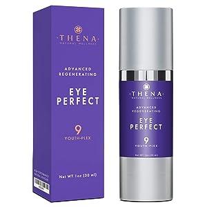 Eye Cream Anti Aging 9 Youth Plex With Hyaluronic Acid Vitamin C & E, Best Natural & Organic Skin Care Anti Wrinkle Moisturizer Under Eye Cream For Wrinkles For Women Men
