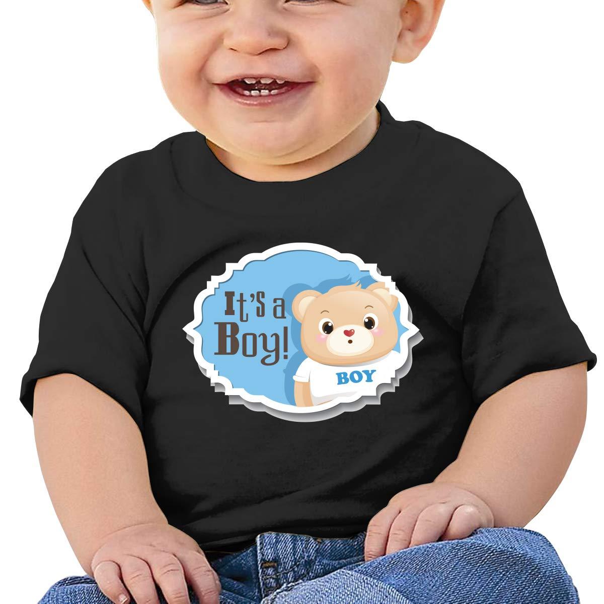 SakanpoCute Bear Toddler//Infant Short Sleeve Cotton T Shirts Black