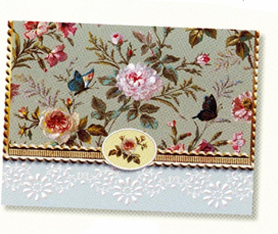 Carol's Rose Garden Classic Butterfly Portfolio Blank 10 Card Set