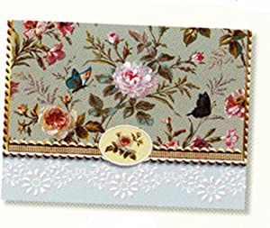 Carol's Rose Garden Classic Butterfly Portfolio Blank 10 Card Set