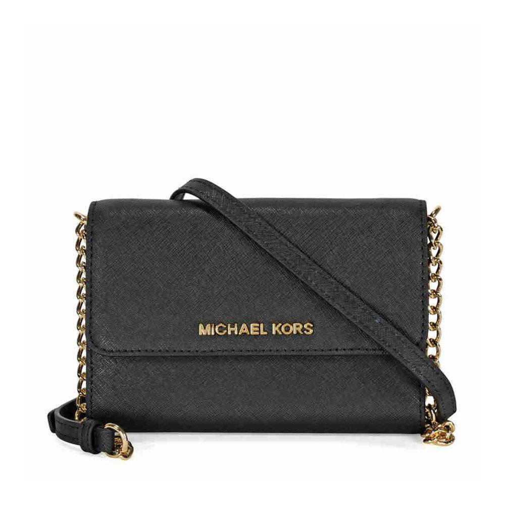 MICHAEL Michael Kors Women's Jet Set Large Phone Cross Body Bag, Black, One Size