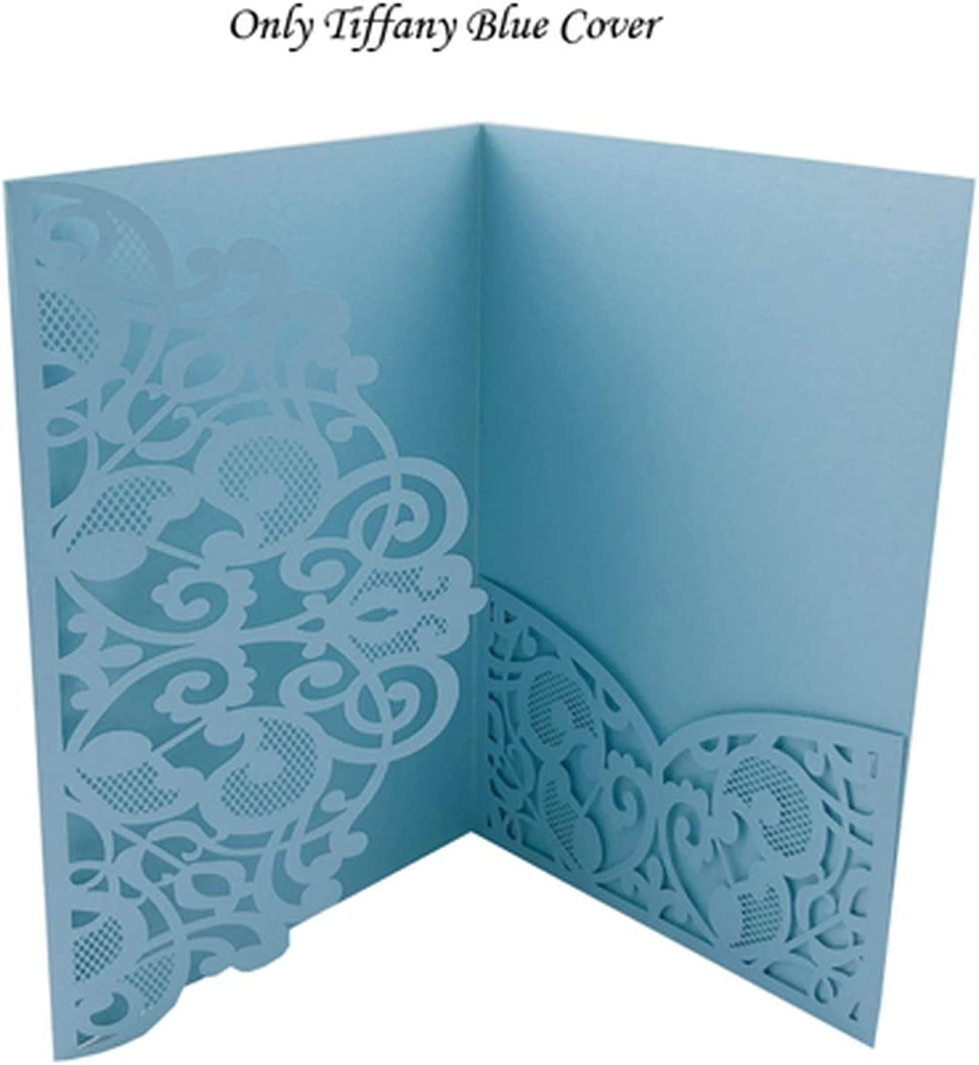 Amazon Com 100pcs European Laser Cut Wedding Invitations Card Elegant Tri Fold Lace Business Card Rsvp Cards Wedding Favor Party Decoration Only Tiffany Cover Office Products