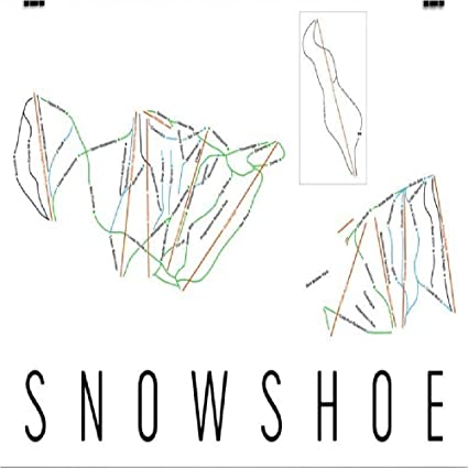Ski Virginia Map.Amazon Com Snowshoe Poster Snowshoe Ski Resort Poster Snowshoe