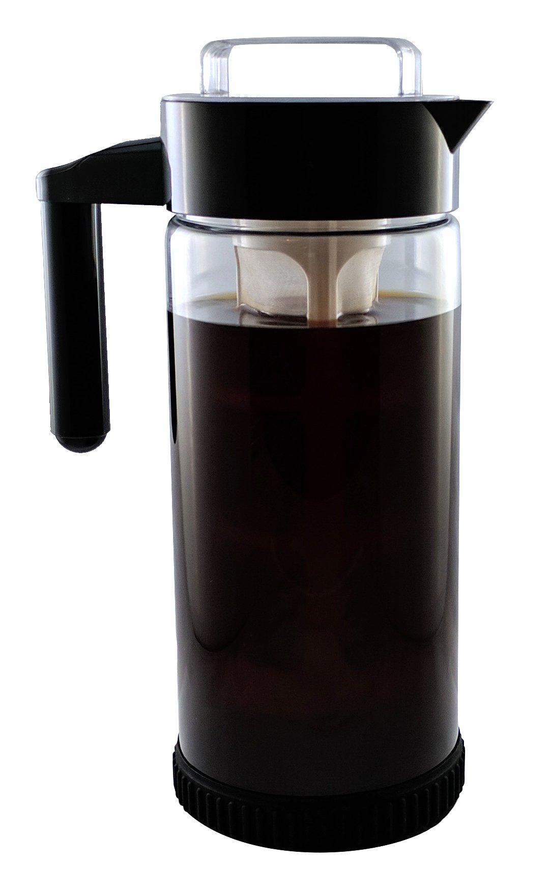 3 in 1 Cold Brew Iced Coffee Maker with Non-Slip Base   Iced Tea Maker   Fruit Infusion Pitcher  ''A'' FakeSpot Rating   Premium Borosilicate Glass   BPA Free   Dishwasher Safe   44oz   BONUS INFUSER