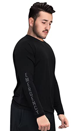 fdf58ec6656 underscrubZ Mens Dri-Fit Long-Sleeve Medical Scrub Undershirt (Emergency)  at Amazon Men's Clothing store: