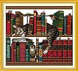 #6: Joy Sunday Cross Stitch Kits 14CT Counted The Cat on The Shelf 15.75
