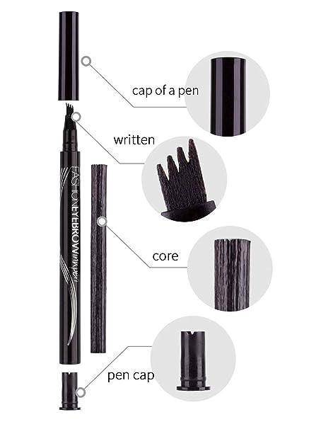 Amazon.com: Calavaca - Bolígrafo para tatuaje de cejas ...