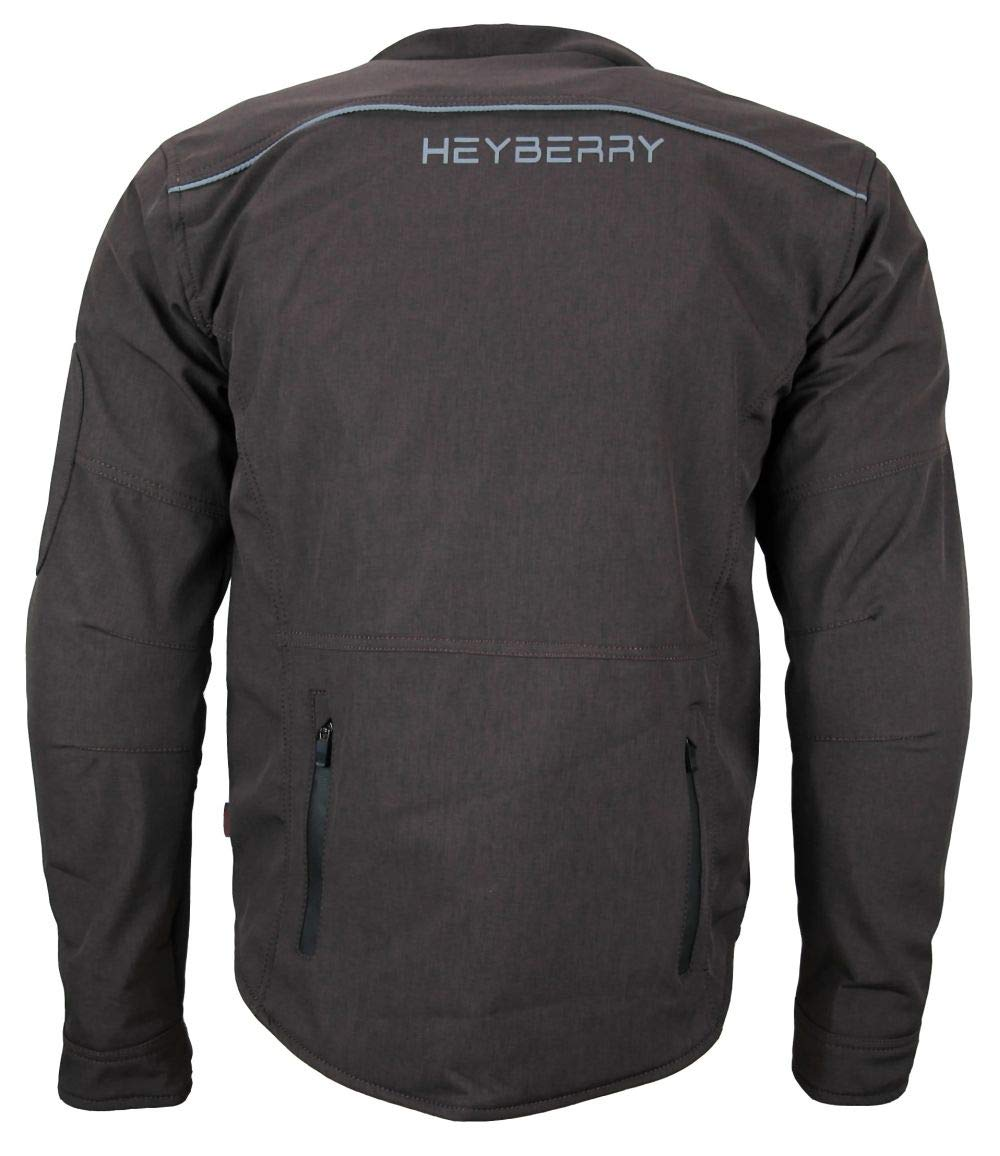 HEYBERRY Soft Shell Motorradjacke Textil Antique-Maroon Gr XXL