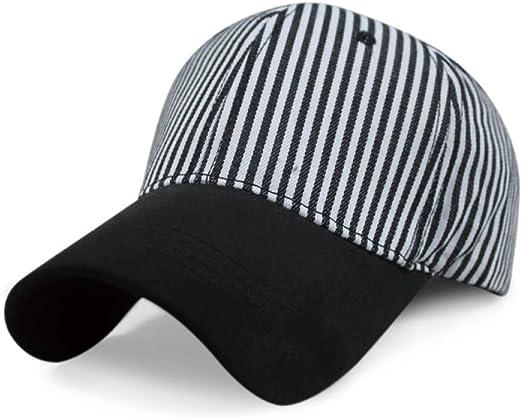 Gorra de béisbol a Rayas Moda Exterior Simple Visera Gorra en ...