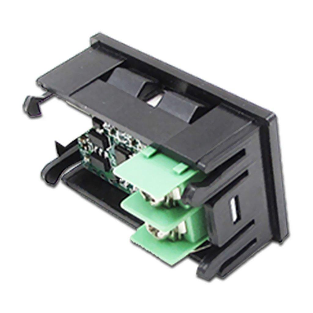 30 bis LED Autothermometer Innen//Au/ßen DC 12V Auto KFZ Thermometer Digital Thermometer Panel-Meter Rot//Blau MagiDeal 2pcs 800 /°C