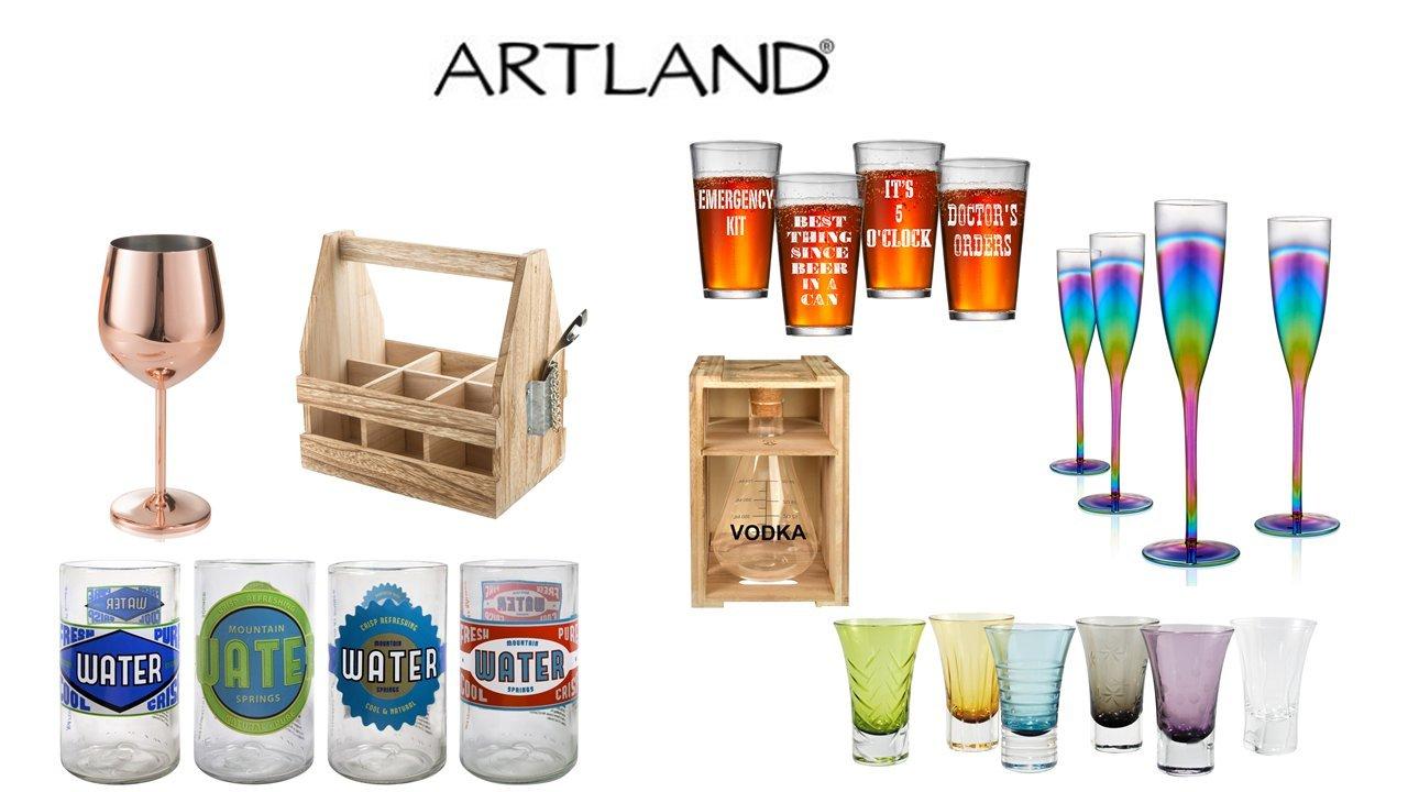 Artland Wine Decanter(Chalkboard), Clear