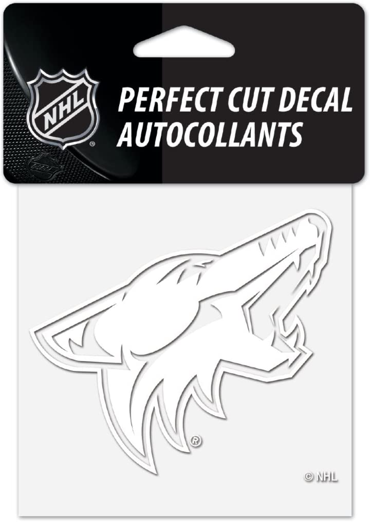 "Wincraft NHL Arizona Coyotes 4""x4"" inch White Decal Sticker"