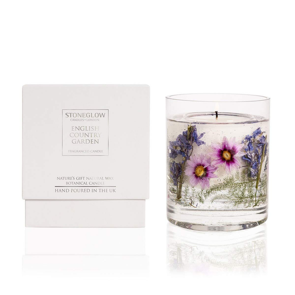 Stoneglow Candle Nature's Gift English Country Garden Gel Candle