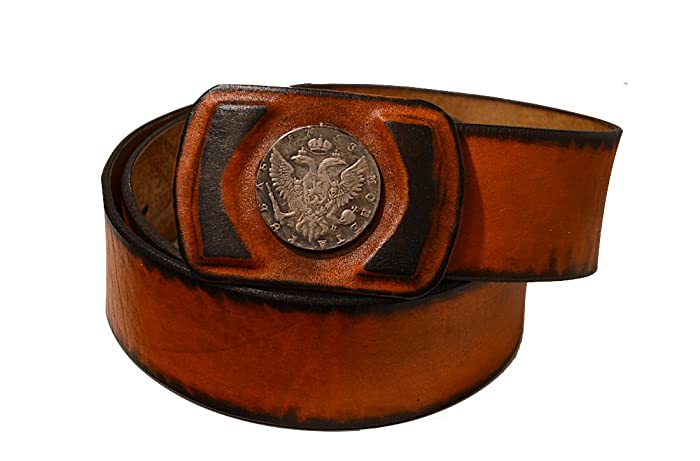 Amazon Com Mens Leather Belt For Jeans 1 9 Wide Handmade