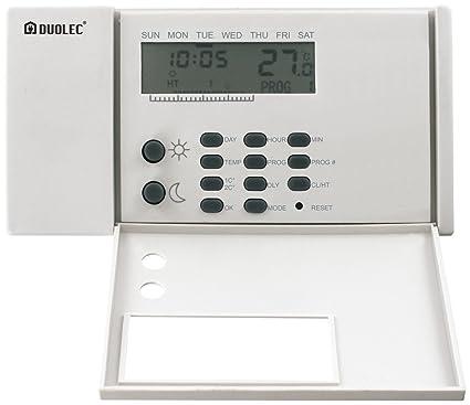 Duolec 9084R122 - Termostato programable con 20 programas Duolec