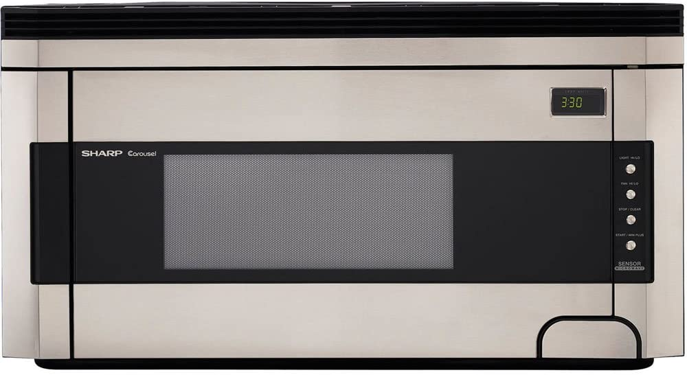 Sharp R-1514 1-1 2-Cubic-Foot 1000-Watt Over-the-Range Microwave, Stainless