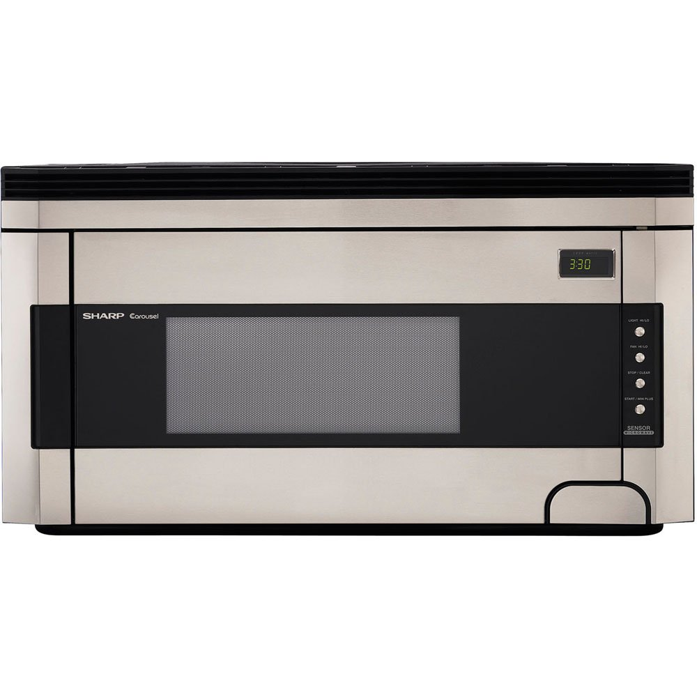 Sharp R-1514 1-1/2-Cubic-Foot 1000-Watt Over-the-Range Microwave, Stainless
