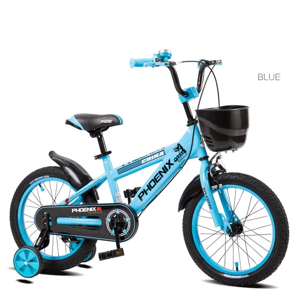 子供の自転車子供のペダル自転車の男の子の赤ちゃん2-10歳の女の子の赤ん坊の運送 (色 : 青, サイズ さいず : 18 inches) B07D3RN7GL 18 inches|青 青 18 inches