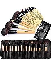 Cadrim Pinceaux Maquillage Cosmétique Professionnel 24pcs Set/Kit Cosmétique Brush Beauté Maquillage Brosse Makeup Brushes Cosmétique Fondation avec Sac Noir