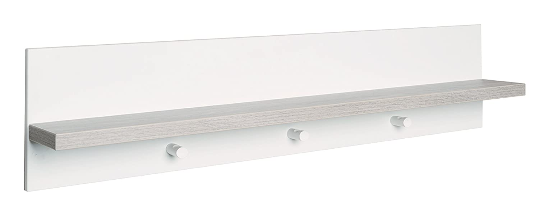 roba universal Wandgarderobe, mit Garderobenhaken und Ablage, weiß/natur weiß/natur ROBA Baumann GmbH 72451