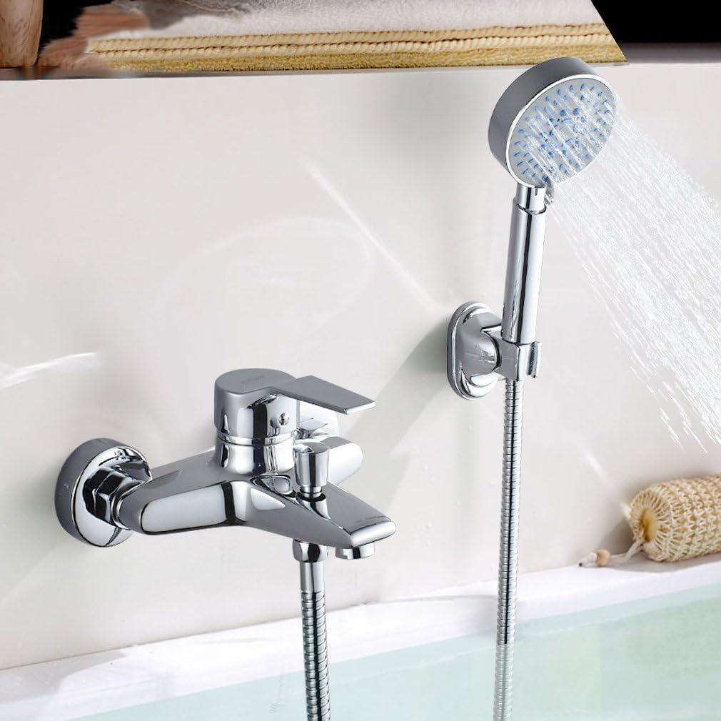 Woohse - Sistema de ducha sin grifería ni bañera, Plateado ...