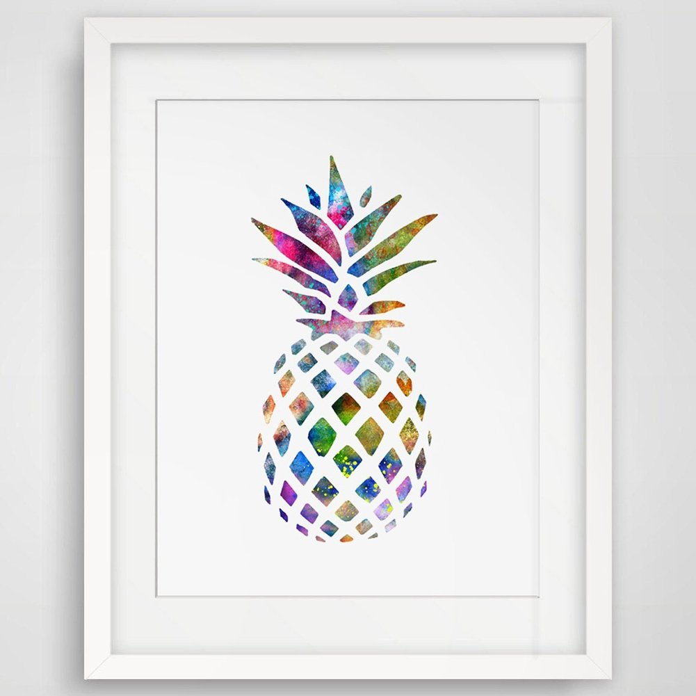 Pu Ran Unframed Multicolor Pineapple Office Home Living Room Wall Decorative Painting 10*15cm