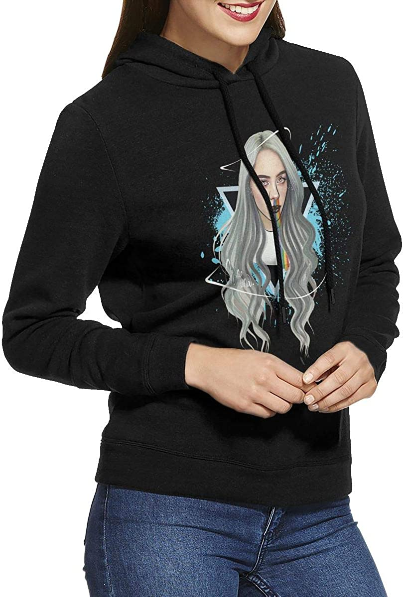 Renbo Billie Eilish Women S Half Dome Pullover Hoodie At Amazon Women S Clothing Store