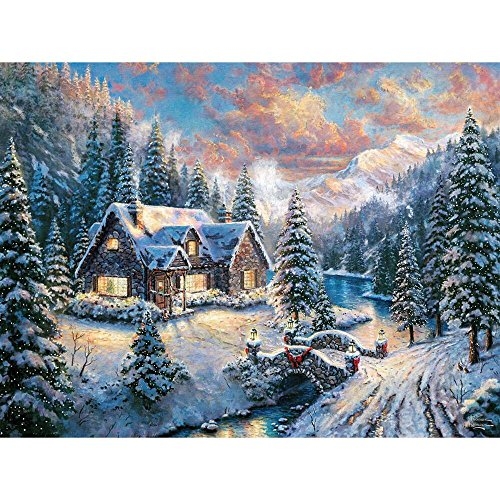 Ceaco Thomas Kinkade - High Country Christmas - Holiday Puzzle (1000 Piece)
