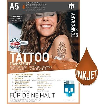 SKULLPAPER Lámina de transferencia de tatuajes temporal ...