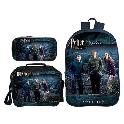 Mochilas para Niños 3D para Niños Mochila Impresa De Harry Potter + Bolsa De Mensajero + Paquete Combinado De Estuche De Lápices J: Hogar
