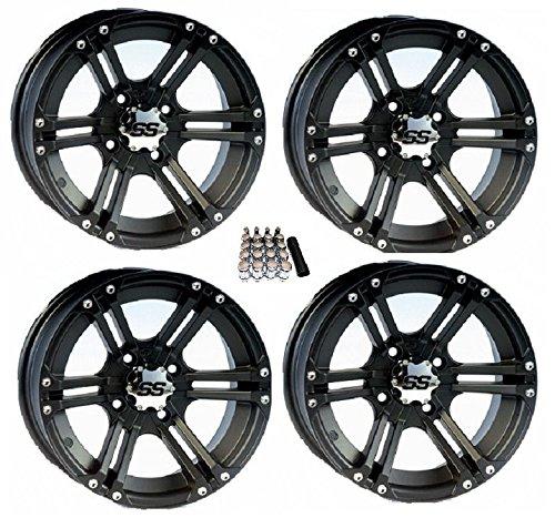 """ITP SS212 UTV Wheels/Rims Black 12"""" Kawasaki Teryx Mule"""