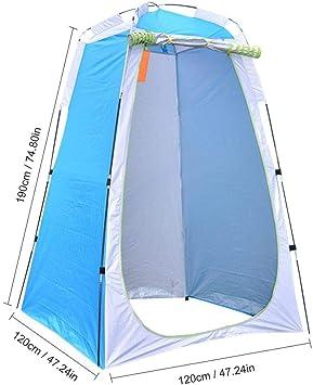 carpa de ducha instant/ánea impermeable con bolsa de transporte Carpa de privacidad port/átil con ducha emergente vestidor extra/íble y espacioso para el ba/ño al aire libre Camping Biking Beach