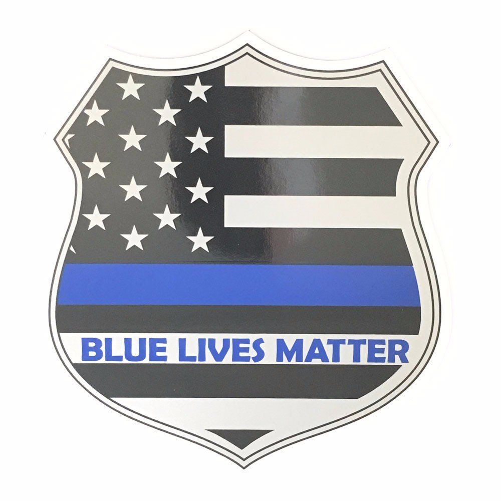 Blue Lives Matter Thin Blue Line 6 Inch Shield Magnet Rescuetees Magnet