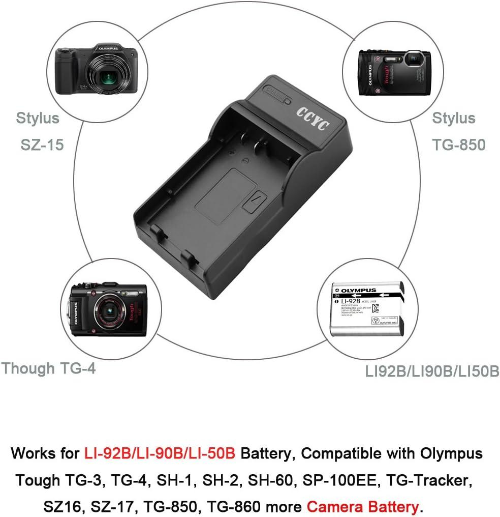 TG Cable USB Cargador De Batería Cámara Digital OLYMPUS STYLUS SH-1 SH-60