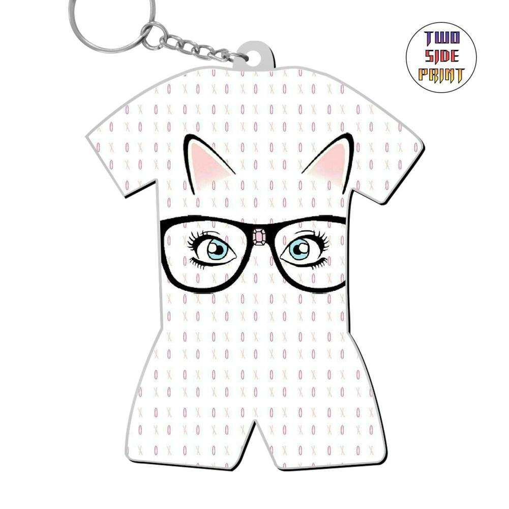 Zinc Alloy Metal Dorm Key Buckle,Print Cat,Best Gift For Friends Boys Girls