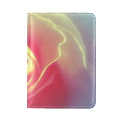 Rose Petals Background Bright Leather Passport Holder Cover Case Travel One Pocket