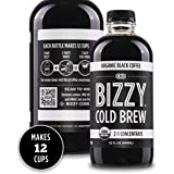 Bizzy Organic Cold Brew Coffee   Concentrate   Perfect for Protein Shakes & Smoothies   Makes 12 Cups, 32 Fl Oz (Pack of 1)