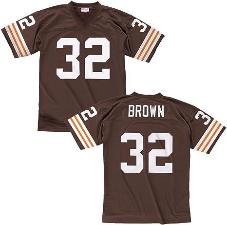 Jim Brown Cleveland Browns Men's NFL Mitchell & Ness Premier Brown ...