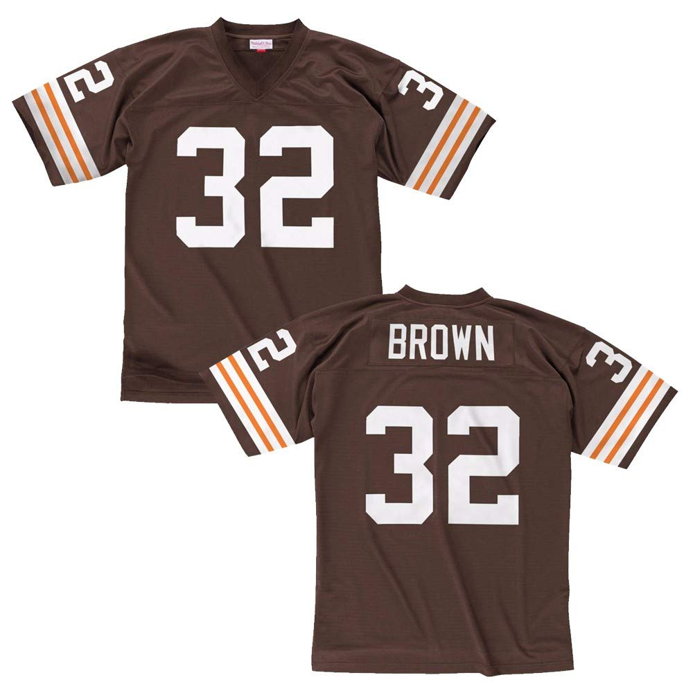 hot sales 4e986 dfa46 Jim Brown Cleveland Browns Mitchell and Ness Throwback Jersey