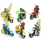 2018 Juguetes Divertidos, WINWINTOM 6 X Minifiguras Ninjago Juguetes Ninja Zane KAI Lloyd Motocicleta Carruaje Bloques Z017