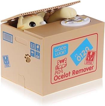 Chat Porte Bonheur HmiL-U Cute Animal volent largent Automatic bo/îte Tirelire /économiser Monnaie avec Voix Cadeau d/'Anniversaire et de No/ël pour Enfant