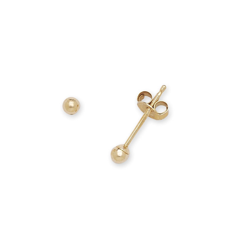 Amazon.com: 14k Yellow Gold 2mm Polished Ball Post Stud Earrings ...