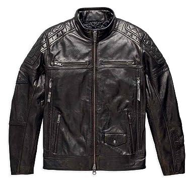 Harley Davidson Men S Benson Lightweight Leather Jacket Black 97155