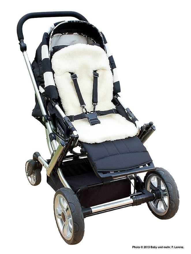 byboom® – Baby – Cordero, universal para portabebés, asiento de coche, por ejemplo para maxi-cosi, Römer, para cuna, carrito O. Buggy; 100% Lana de ...