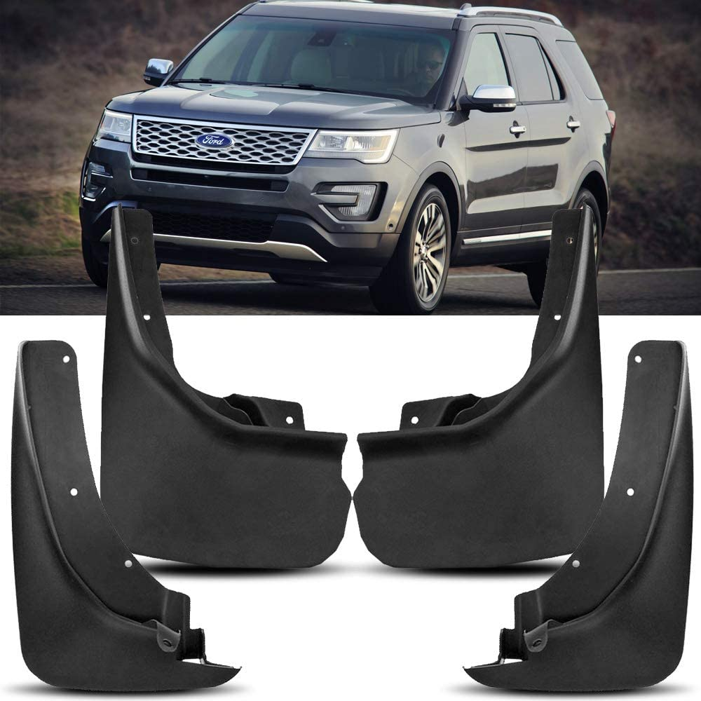 HYZZ Front /& Rear Mud Flap MudFlaps Splash Guards for 2011 2012 2013 2014 2015 2016 2017 2018 Ford Explorer 4PACK
