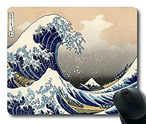 """The Great Wave Off Kanagawa Custom Rectangle Mouse Pad Oblong Gaming Mousepad in 220mm*180mm*3mm (9""""*7"""") -912051 by icecream design"""