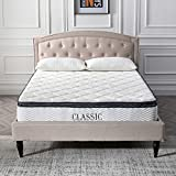 Classic Brands Synergy Memory Foam and Innerspring Hybrid 9-Inch Pillow Top Mattress, Queen