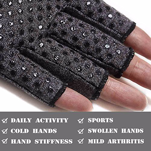 COLO Arthritis Gloves Compression Gloves for Rheumatoid & Osteoarthritis - Men & Women Hand Gloves Provide Arthritic Joint Pain Symptom Relief - Open Finger (S) by COLO (Image #4)