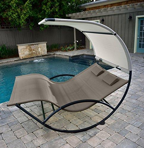 Eclipse Collection Double Chaise Rocker - Aluminum (Cocoa)