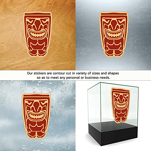 Vinyl Sticker Decals Ancient Tiki Sports Bike long board chisel stone (2 X 1,26 Inches) Fully Waterproof Printed vinyl sticker